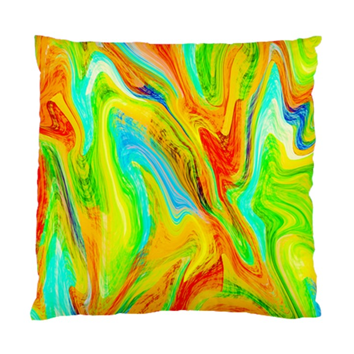 Happy Multicolor Painting Standard Cushion Case (One Side)