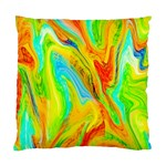 Happy Multicolor Painting Standard Cushion Case (Two Sides) Back
