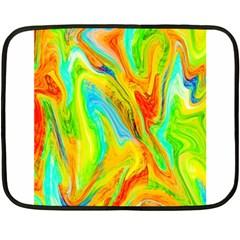 Happy Multicolor Painting Fleece Blanket (mini) by designworld65