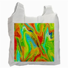 Happy Multicolor Painting Recycle Bag (two Side)  by designworld65