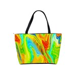 Happy Multicolor Painting Shoulder Handbags Back