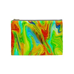 Happy Multicolor Painting Cosmetic Bag (medium)  by designworld65