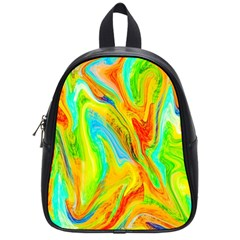 Happy Multicolor Painting School Bags (small)  by designworld65