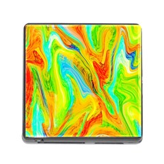 Happy Multicolor Painting Memory Card Reader (square)