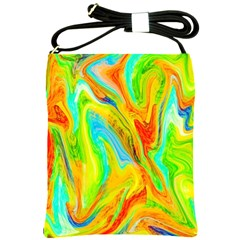Happy Multicolor Painting Shoulder Sling Bags by designworld65