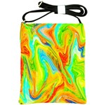 Happy Multicolor Painting Shoulder Sling Bags