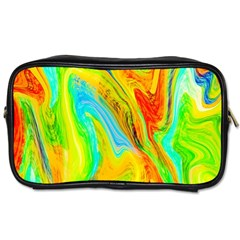 Happy Multicolor Painting Toiletries Bags by designworld65