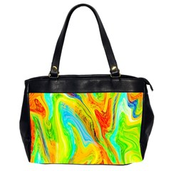 Happy Multicolor Painting Office Handbags (2 Sides)  by designworld65