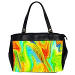 Happy Multicolor Painting Office Handbags (2 Sides)