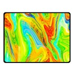 Happy Multicolor Painting Fleece Blanket (Small)