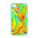 Happy Multicolor Painting Apple iPhone 4 Case (Color)