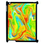 Happy Multicolor Painting Apple iPad 2 Case (Black)