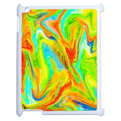 Happy Multicolor Painting Apple Ipad 2 Case (white) by designworld65