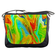 Happy Multicolor Painting Messenger Bags by designworld65