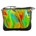 Happy Multicolor Painting Messenger Bags