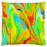 Happy Multicolor Painting Large Cushion Case (Two Sides)
