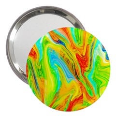 Happy Multicolor Painting 3  Handbag Mirrors by designworld65