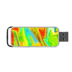 Happy Multicolor Painting Portable Usb Flash (two Sides) by designworld65