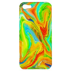 Happy Multicolor Painting Apple Iphone 5 Hardshell Case by designworld65