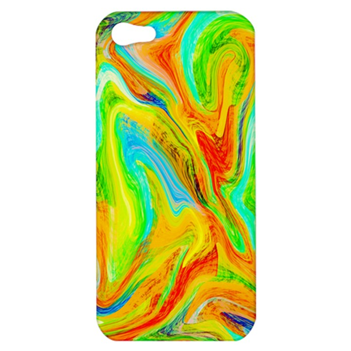Happy Multicolor Painting Apple iPhone 5 Hardshell Case