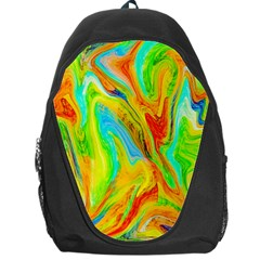 Happy Multicolor Painting Backpack Bag by designworld65