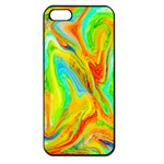 Happy Multicolor Painting Apple iPhone 5 Seamless Case (Black) Front