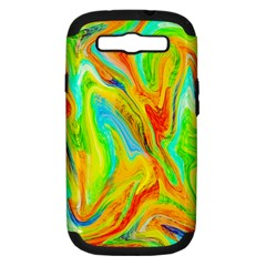 Happy Multicolor Painting Samsung Galaxy S Iii Hardshell Case (pc+silicone) by designworld65