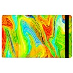 Happy Multicolor Painting Apple iPad 2 Flip Case