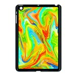 Happy Multicolor Painting Apple iPad Mini Case (Black)