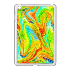 Happy Multicolor Painting Apple Ipad Mini Case (white) by designworld65