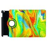 Happy Multicolor Painting Apple iPad 2 Flip 360 Case