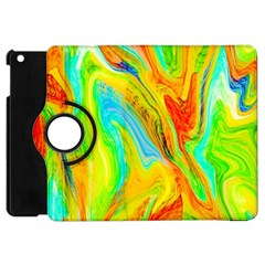 Happy Multicolor Painting Apple Ipad Mini Flip 360 Case by designworld65