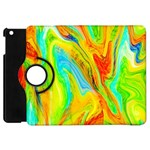 Happy Multicolor Painting Apple iPad Mini Flip 360 Case