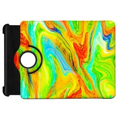 Happy Multicolor Painting Kindle Fire Hd Flip 360 Case by designworld65