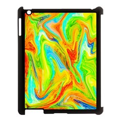 Happy Multicolor Painting Apple Ipad 3/4 Case (black)