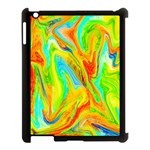 Happy Multicolor Painting Apple iPad 3/4 Case (Black) Front