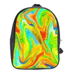 Happy Multicolor Painting School Bags (xl)  by designworld65