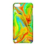 Happy Multicolor Painting Apple iPod Touch 5 Hardshell Case with Stand