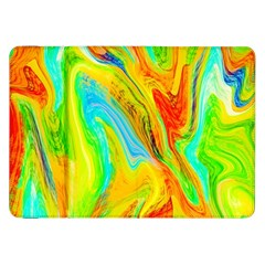 Happy Multicolor Painting Samsung Galaxy Tab 8 9  P7300 Flip Case by designworld65