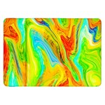 Happy Multicolor Painting Samsung Galaxy Tab 8.9  P7300 Flip Case