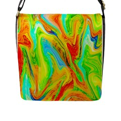 Happy Multicolor Painting Flap Messenger Bag (l)  by designworld65