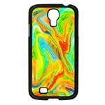 Happy Multicolor Painting Samsung Galaxy S4 I9500/ I9505 Case (Black)