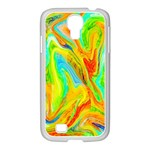 Happy Multicolor Painting Samsung GALAXY S4 I9500/ I9505 Case (White)
