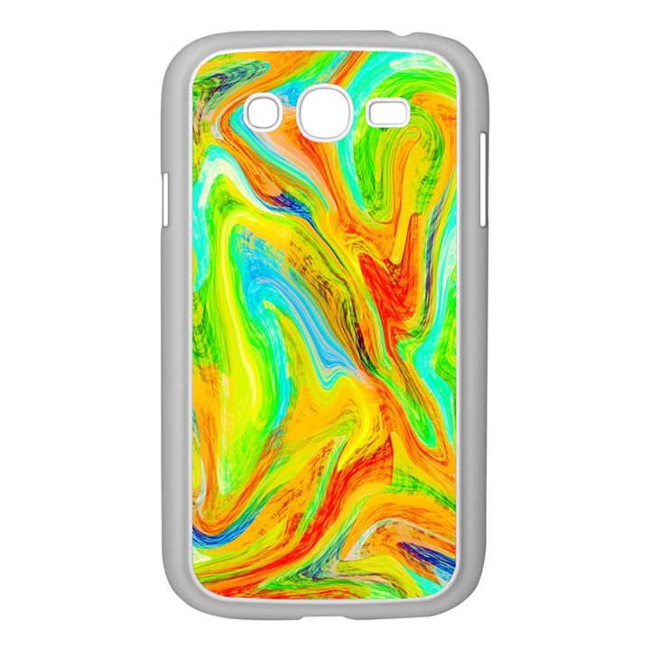 Happy Multicolor Painting Samsung Galaxy Grand DUOS I9082 Case (White)