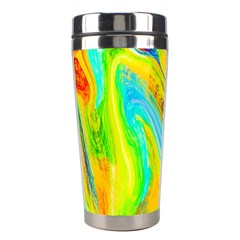 Happy Multicolor Painting Stainless Steel Travel Tumblers by designworld65