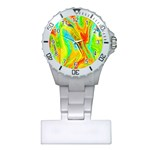 Happy Multicolor Painting Plastic Nurses Watch Front
