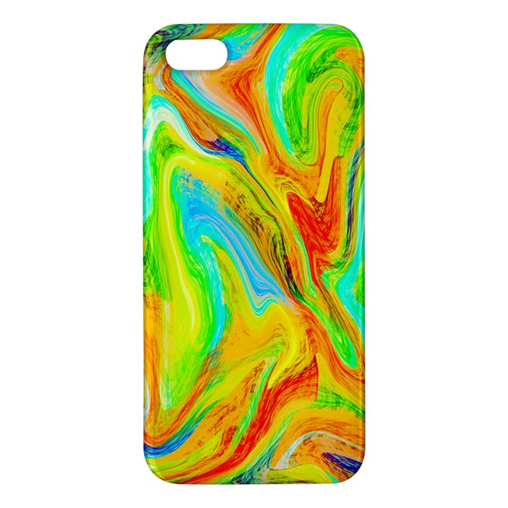 Happy Multicolor Painting iPhone 5S/ SE Premium Hardshell Case