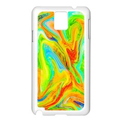 Happy Multicolor Painting Samsung Galaxy Note 3 N9005 Case (white) by designworld65