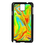 Happy Multicolor Painting Samsung Galaxy Note 3 N9005 Case (Black)