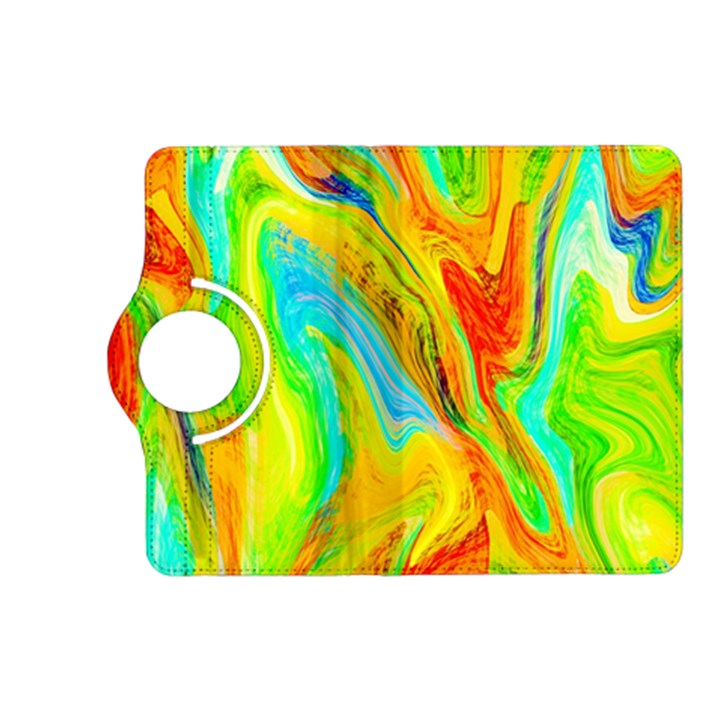 Happy Multicolor Painting Kindle Fire HD (2013) Flip 360 Case
